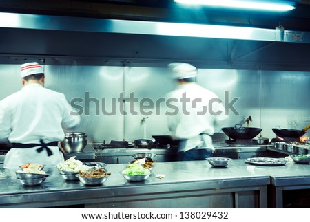 Restaurant Kitchen Chefs chef kitchen stock images, royalty-free images & vectors