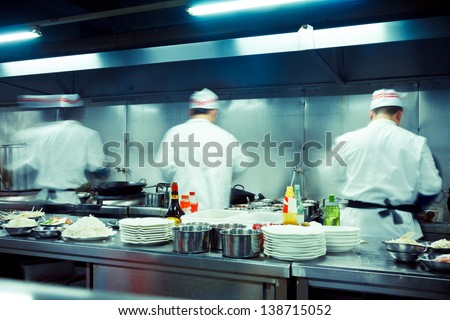 Restaurant Kitchen Chefs chef in kitchen stock images, royalty-free images & vectors
