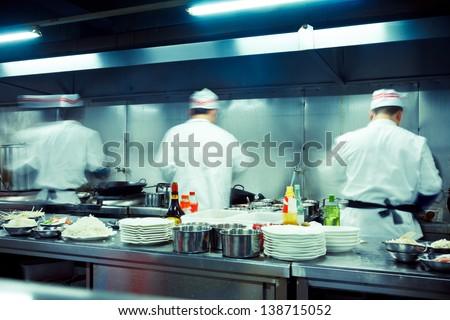 Restaurant Kitchen Chefs motion chefs restaurant kitchen stock photo 121578847 - shutterstock