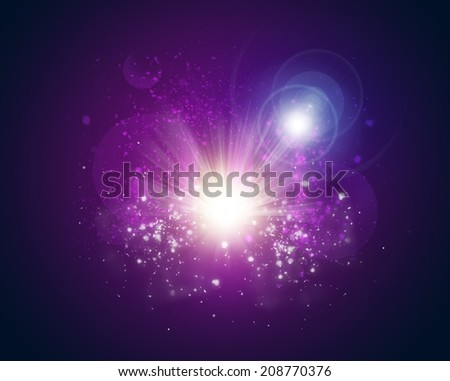 Motion glowing circles - stock photo