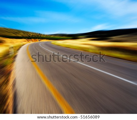 motion road - stock photo