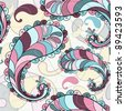 Motley seamless pattern with colorful paisley - stock photo