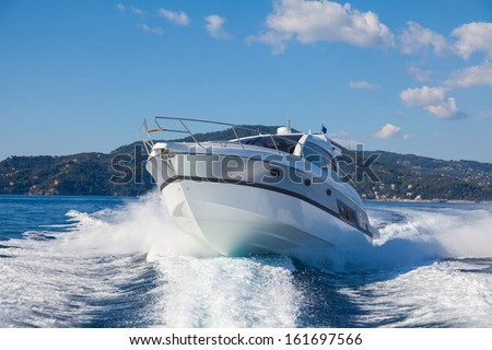 Motor boat, rio yacht, best italian yacht  - stock photo