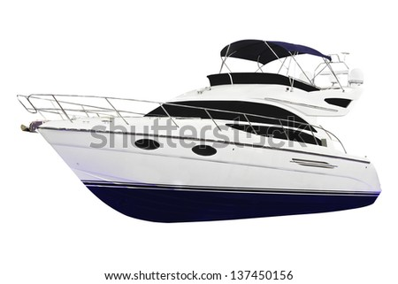motor boat under the white background