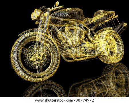 Motor cycle street fighter - stock photo