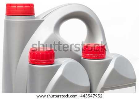 motor oil bottle - stock photo