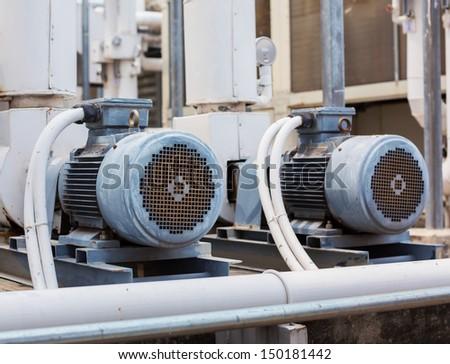 Motor pump air conditioner. - stock photo