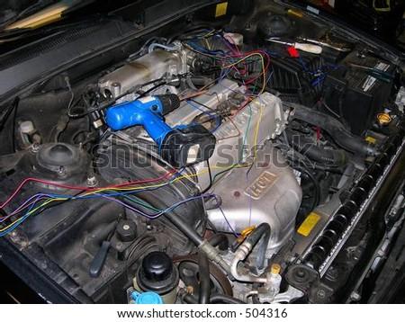 Motor Repair - stock photo