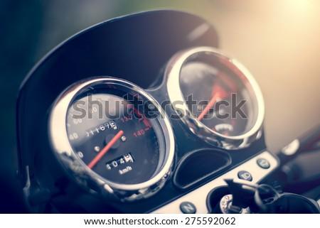 motorbike clocks - stock photo
