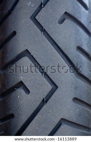 Motorbike tyre - stock photo