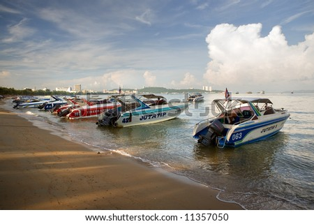 motorboats in Thailand