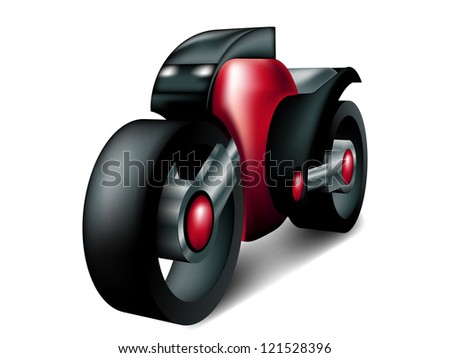 Motorcycle Concept - stock photo