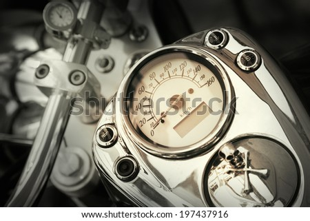 Motorcycle detail - stock photo