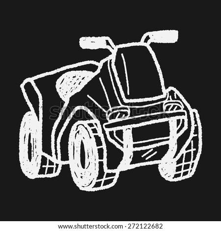 Stock Photo Motorcycle Doodle