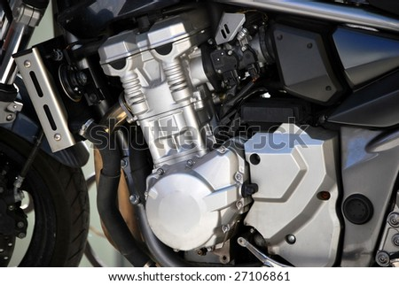 Motorcycle engine. Mechanical and repair concept