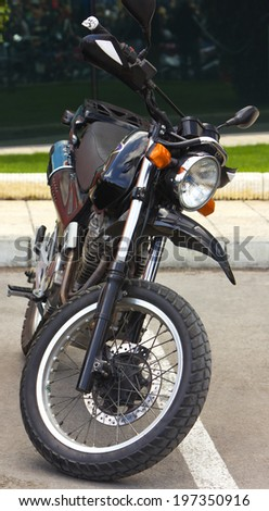 Motorcycle front view - stock photo