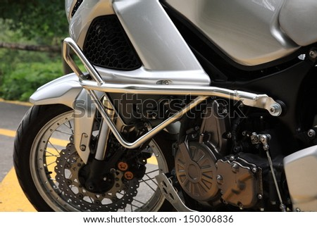 motorcycle mechanical parts - stock photo