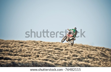 motorcycle ride - stock photo