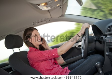 Motorist phone while driving