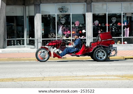 Motortrike, Beach street. Daytona - stock photo