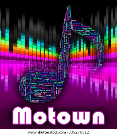 Motown Music Indicating Sound Track And Audio - stock photo