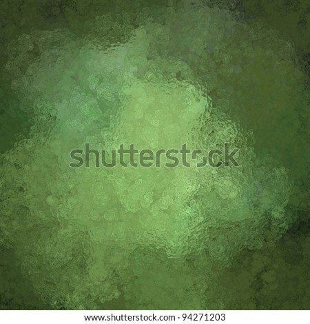 mottled green background with glassy vintage grunge texture and highlight with copy space for text or announcement for Christmas or St. Patrick's day holiday party invitations - stock photo