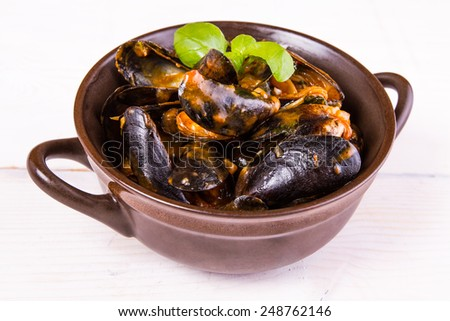Moules,mussels - stock photo