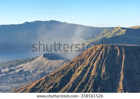 Mount Bromo in Java in Indonesia - stock photo