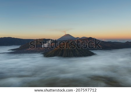 Mount Bromo, Java island, Indonesia - stock photo