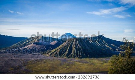 Mount Bromo volcano java,Indonesia  - stock photo