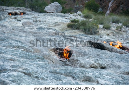 Mount Chimera, eternal flames in ancient Lycia (Turkey)