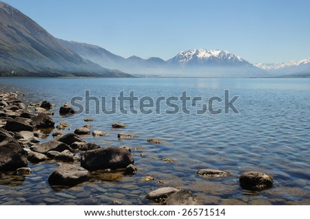 "Mount Cook and ""Pukaki"" lake, ""New Zealand"""