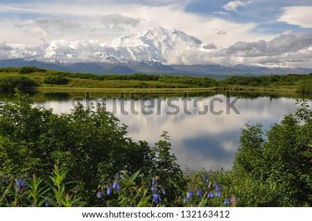 Mount Denali, Alaska - stock photo