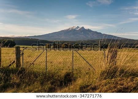 Mount Doom in the sun - stock photo