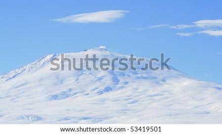 Mount Erebus - stock photo