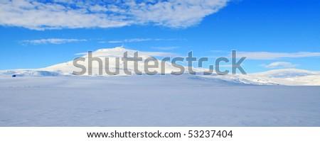 Mount Erebus, Antarctic volcano - stock photo