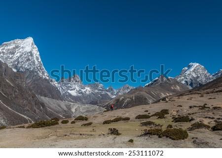 Mount Everest Base Camp Trek - stock photo