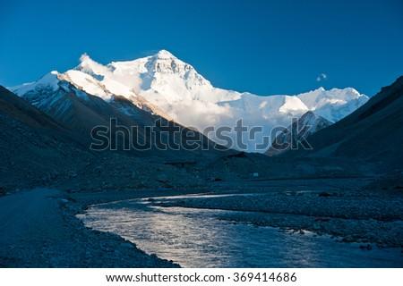 Mount Everest (Chomolungma) - stock photo