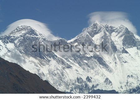 Mount Everest - Highest in the World - stock photo