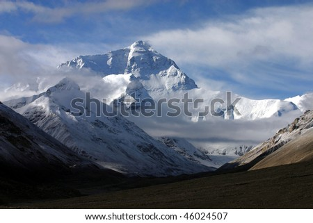 Mount Everest (8848 meters above sealevel) - stock photo