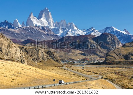 Mount Fitz Roy, Los Glaciares National Park, Patagonia - stock photo