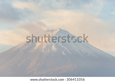 Mount Fuji,close up. - stock photo