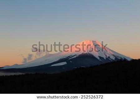 Mount Fuji Mount Japan - stock photo