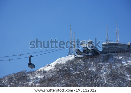 Mount Hakodate Ropeway of winter