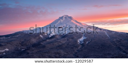 Mount Hood Sunrise - stock photo