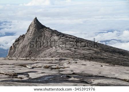 Mount Kinabalu, the highest peak in the Malay Archipelago, Sabah, East Malaysia - stock photo