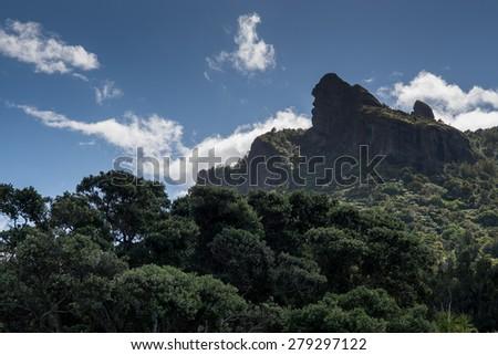 Mount Manaia in New Zealand Northen Island  - stock photo