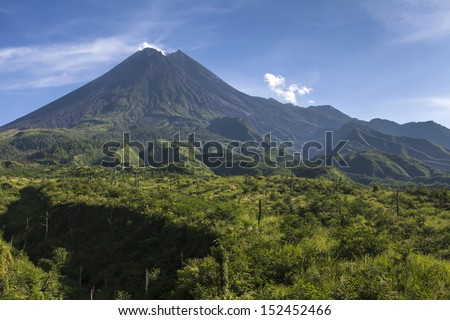 Mount Merapi volcano, Java, Indonesia - stock photo