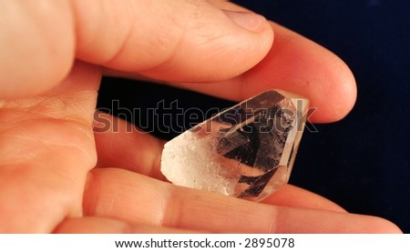 Mount mineral in the hands - stock photo