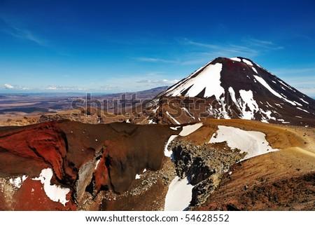 Mount Ngauruhoe, New Zealand - stock photo